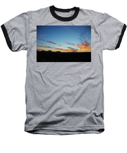 Baseball T-Shirt featuring the photograph Monument Valley Sunset 2 by Jeff Brunton