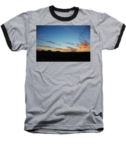 Monument Valley Sunset 2 Baseball T-Shirt by Jeff Brunton