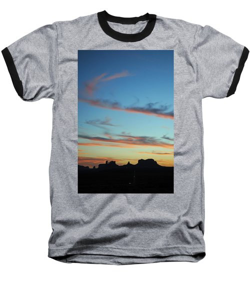 Baseball T-Shirt featuring the photograph Monument Valley Sunset 3 by Jeff Brunton