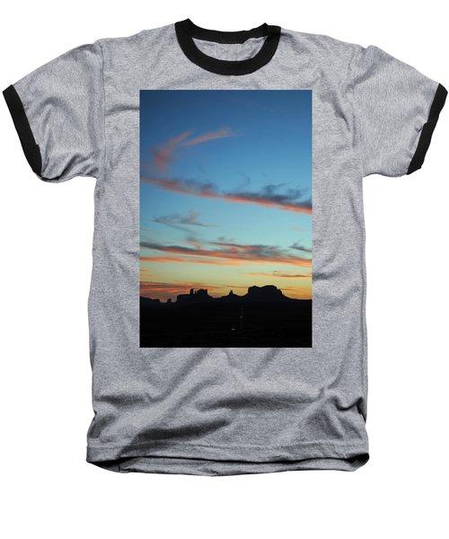 Monument Valley Sunset 3 Baseball T-Shirt by Jeff Brunton