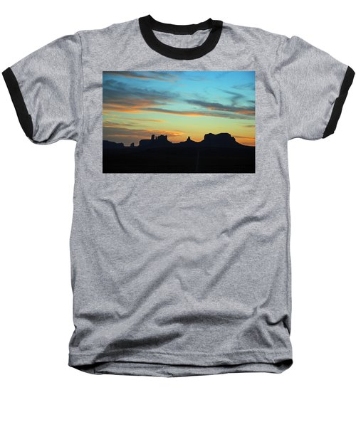 Baseball T-Shirt featuring the photograph Monument Valley Sunset 4  by Jeff Brunton