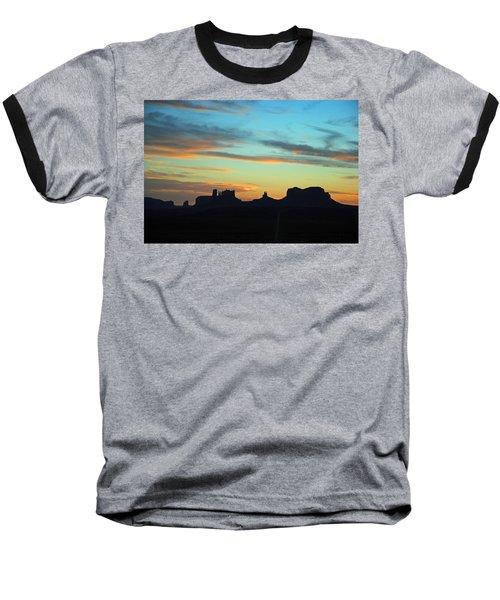 Monument Valley Sunset 4  Baseball T-Shirt by Jeff Brunton