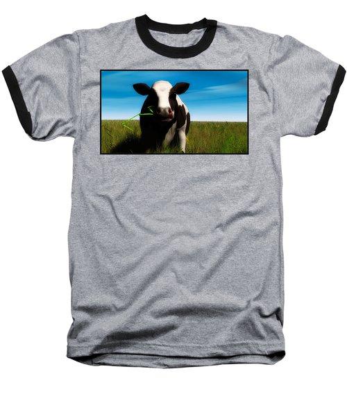 Baseball T-Shirt featuring the digital art Moo... by Tim Fillingim