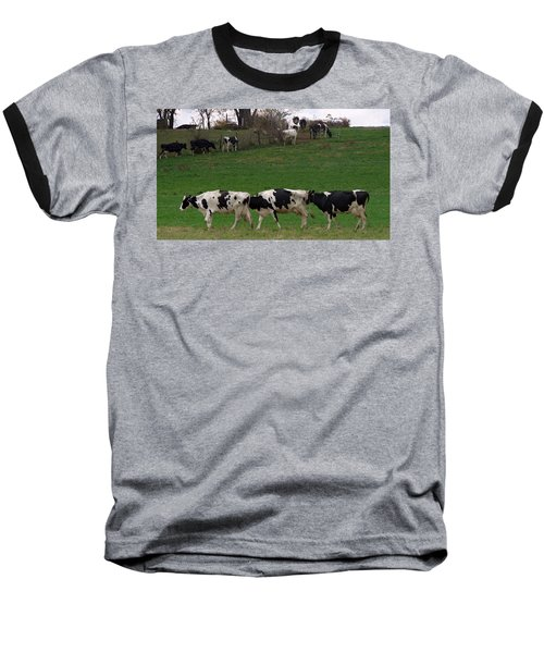 Moo Train Baseball T-Shirt