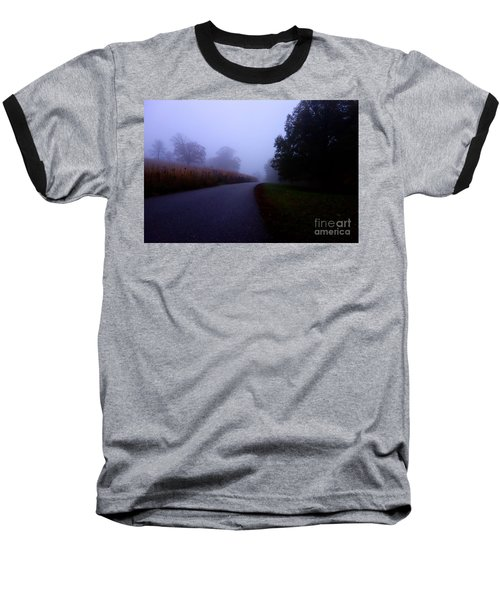 Moody Autumn Pathway Baseball T-Shirt