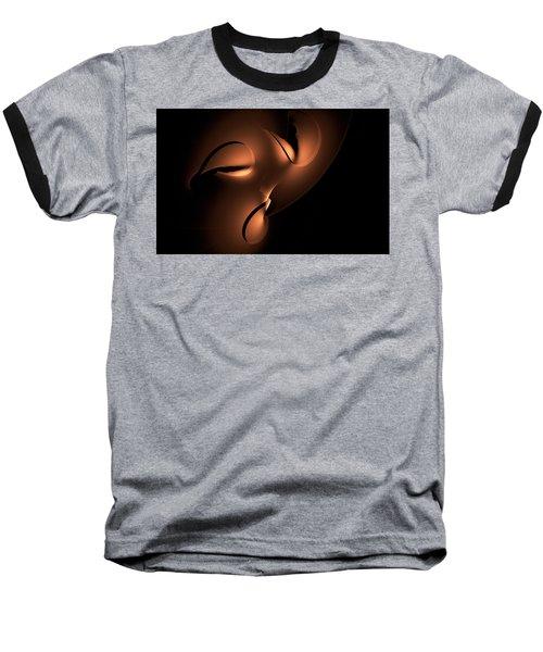Baseball T-Shirt featuring the digital art Moody by GJ Blackman
