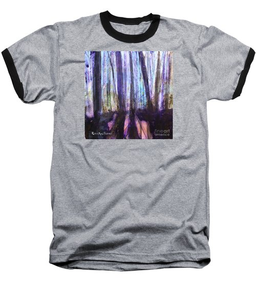 Moody Woods Baseball T-Shirt by Robin Maria Pedrero