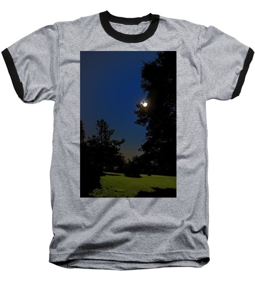 Baseball T-Shirt featuring the photograph Moon And Pegasus by Greg Reed