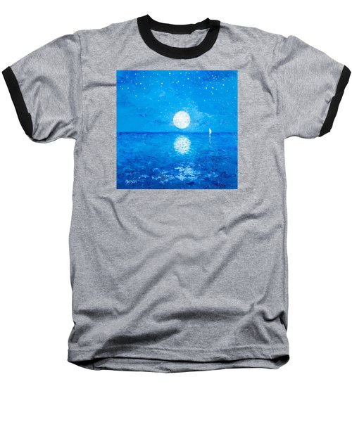 Moon And Stars Baseball T-Shirt