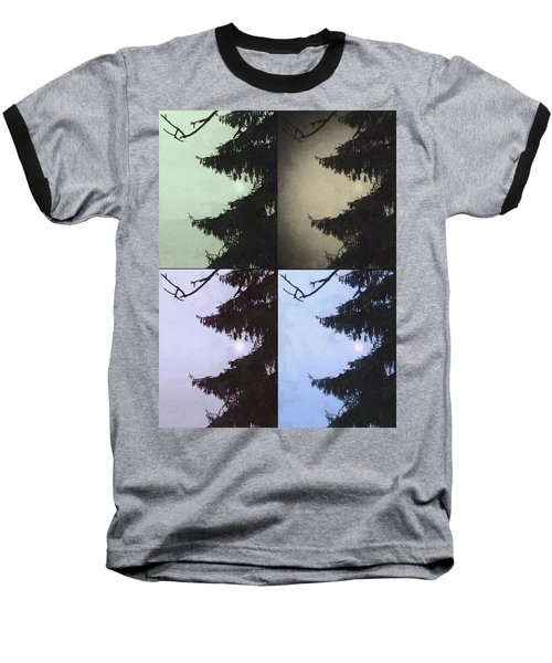 Baseball T-Shirt featuring the photograph Moon And Tree by Photographic Arts And Design Studio