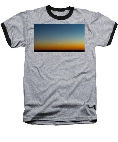 Moon And Venus I Baseball T-Shirt by Marco Oliveira