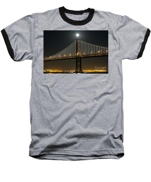 Moon Atop The Bridge Baseball T-Shirt