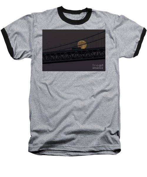 Baseball T-Shirt featuring the photograph Moon Bridge Bus by Kate Brown
