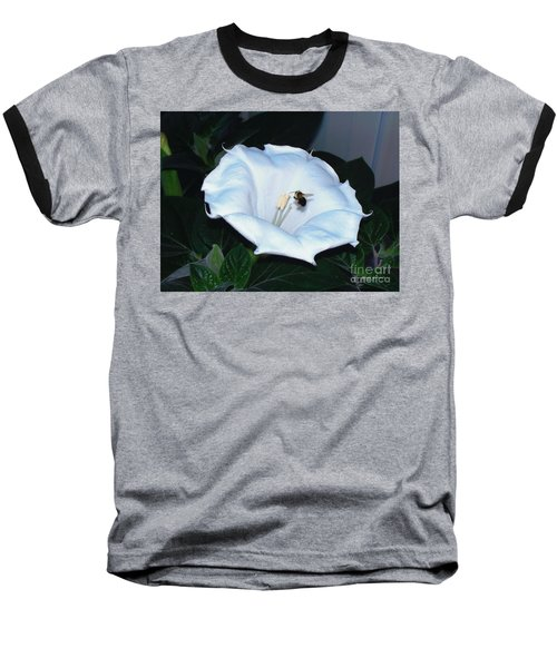 Baseball T-Shirt featuring the photograph Moon Flower by Thomas Woolworth