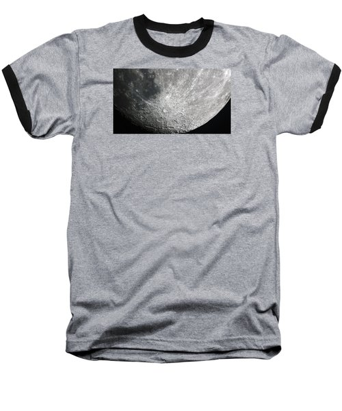 Moon Hi Contrast Baseball T-Shirt by Greg Reed