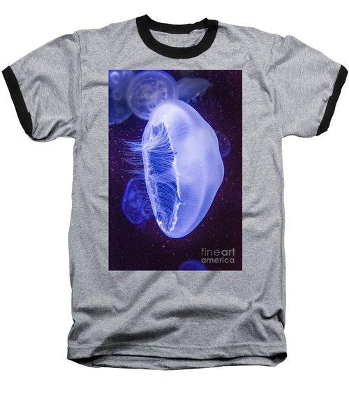 Moon Jellyfish - Aurelia Aurita Baseball T-Shirt
