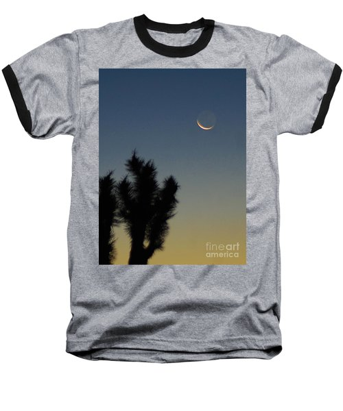 Baseball T-Shirt featuring the photograph Moon Kissed by Angela J Wright