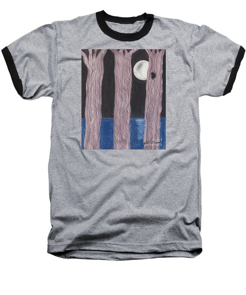 Baseball T-Shirt featuring the mixed media Moon Light by David Jackson