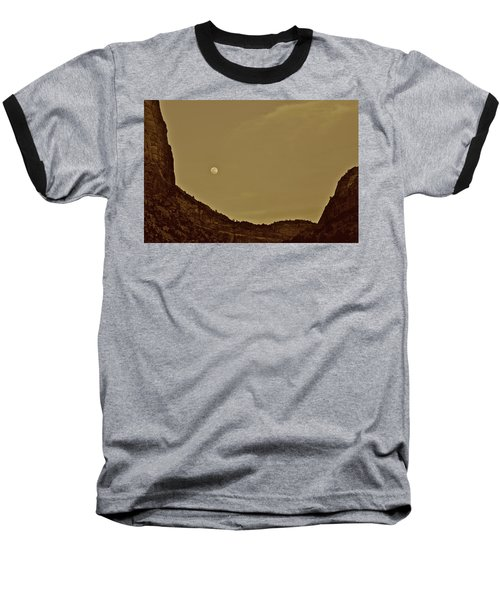 Moon Over Crag Utah Baseball T-Shirt
