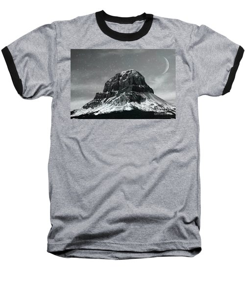 Moon Over Crowsnest Baseball T-Shirt