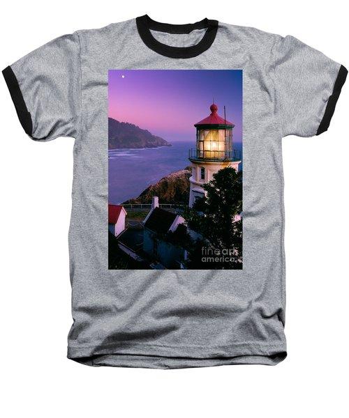 Moon Over Heceta Head Baseball T-Shirt