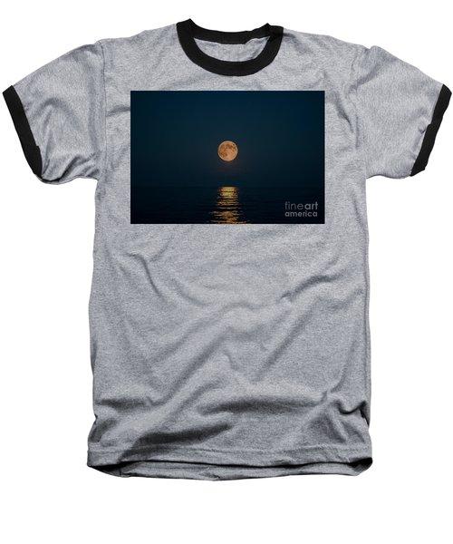 Moon Over Lake Of Shining Waters Baseball T-Shirt