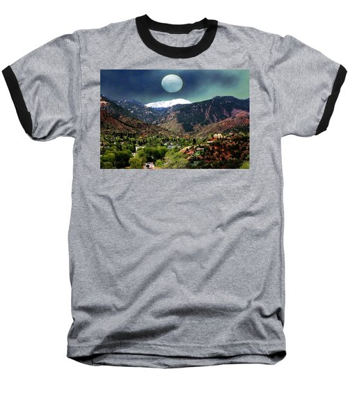 Baseball T-Shirt featuring the photograph Moon Over Manitou I by Lanita Williams