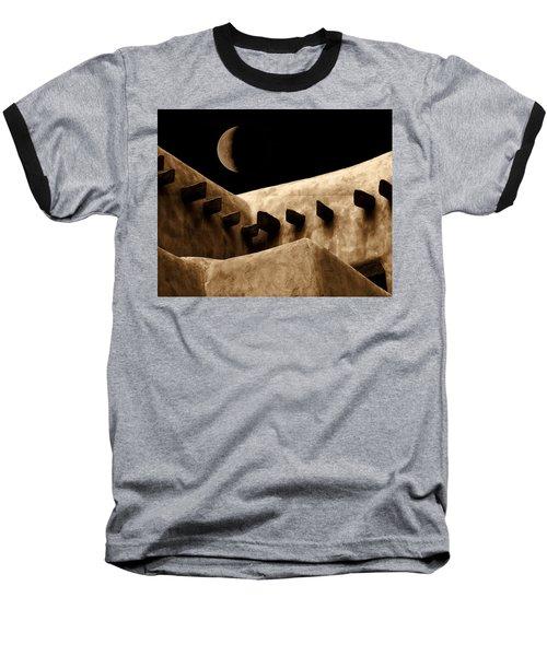 Moon Over Santa Fe Baseball T-Shirt