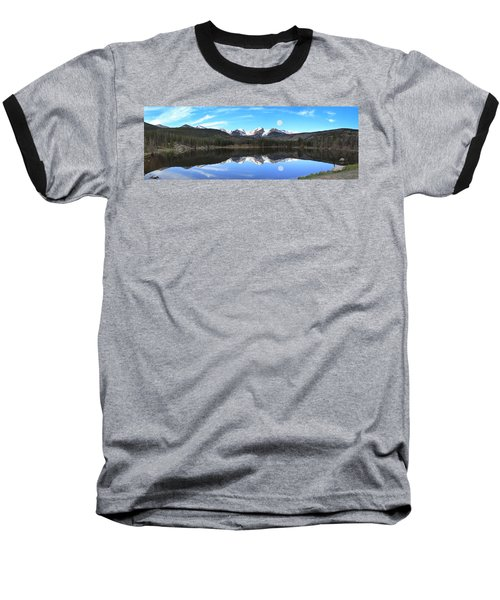 Moon Over Sprague Lake Baseball T-Shirt