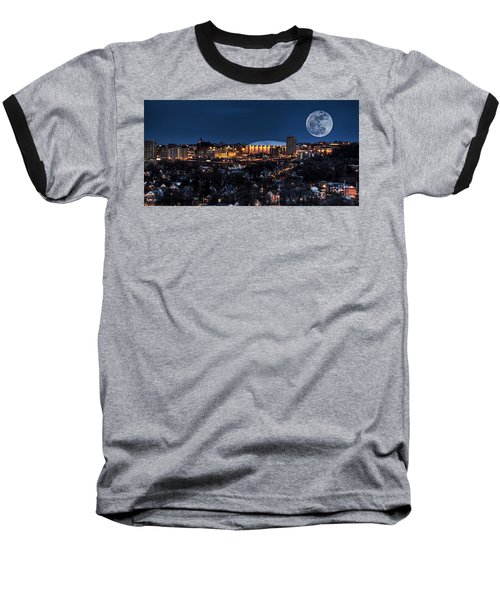 Moon Over The Carrier Dome Baseball T-Shirt by Everet Regal