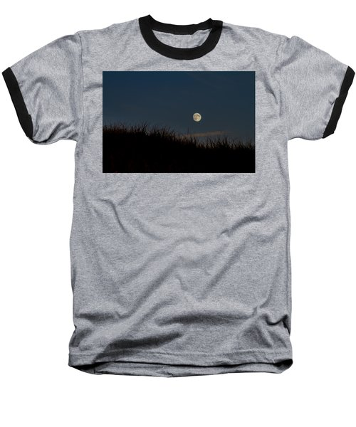 Moon Over The Dunes Baseball T-Shirt by Brian Caldwell
