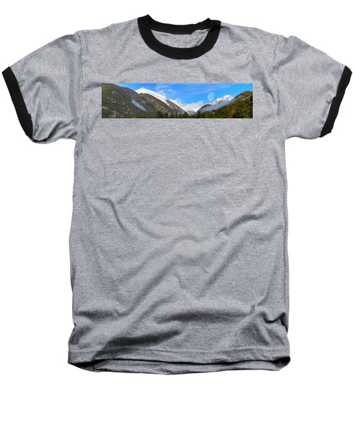 Moon Over The Rockies Baseball T-Shirt