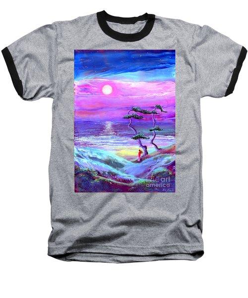 Moon Pathway,seascape Baseball T-Shirt
