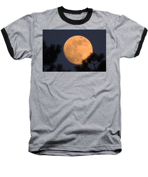 Baseball T-Shirt featuring the photograph Moon Pines by Charlotte Schafer
