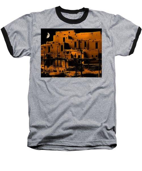 Moon Rise At The Pueblo Baseball T-Shirt