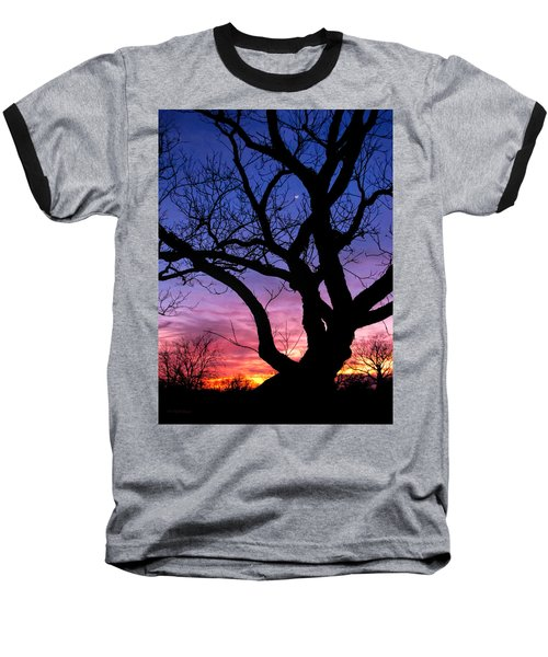 Moon Rise Baseball T-Shirt