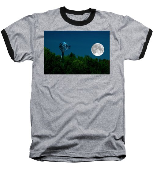 Moon Risen Baseball T-Shirt