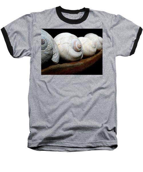 Baseball T-Shirt featuring the photograph Moon Shells by Micki Findlay