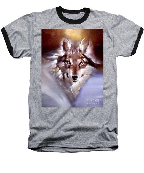 Moon Wolf Baseball T-Shirt