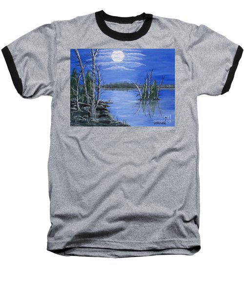 Moonlight Mist Baseball T-Shirt by Brenda Brown