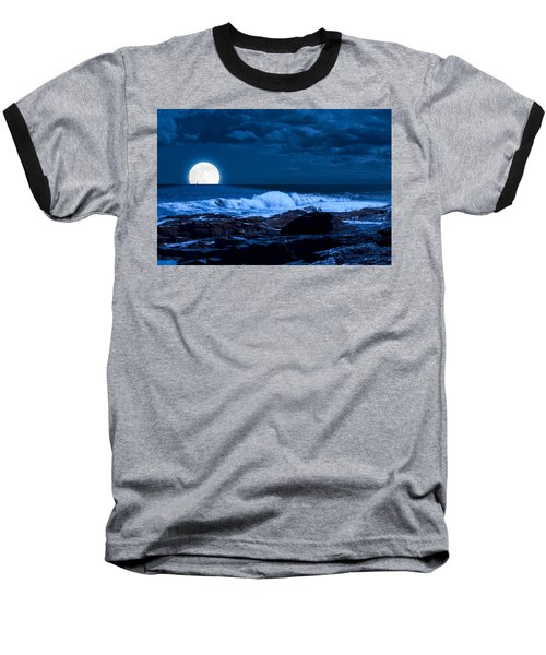 Moonlight Sail Baseball T-Shirt