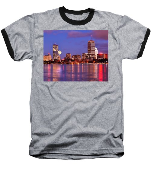 Moonlit Boston On The Charles Baseball T-Shirt