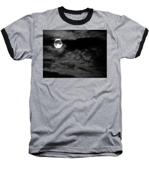 Moonlit Clouds Baseball T-Shirt