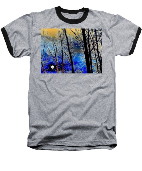 Moonlit Frosty Limbs Baseball T-Shirt