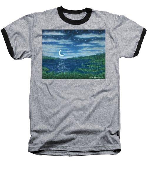 Moonlit Lagoon Baseball T-Shirt