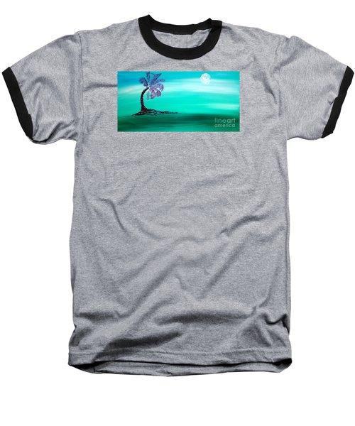 Moonlit Palm Baseball T-Shirt