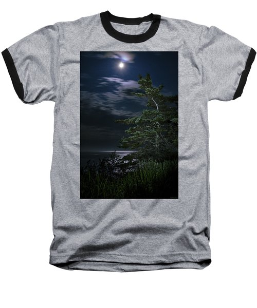 Moonlit Treescape Baseball T-Shirt
