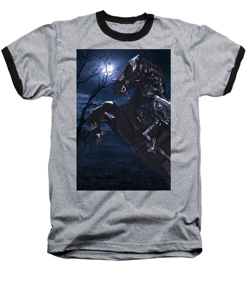 Moonlit Warrior Baseball T-Shirt by Wes and Dotty Weber