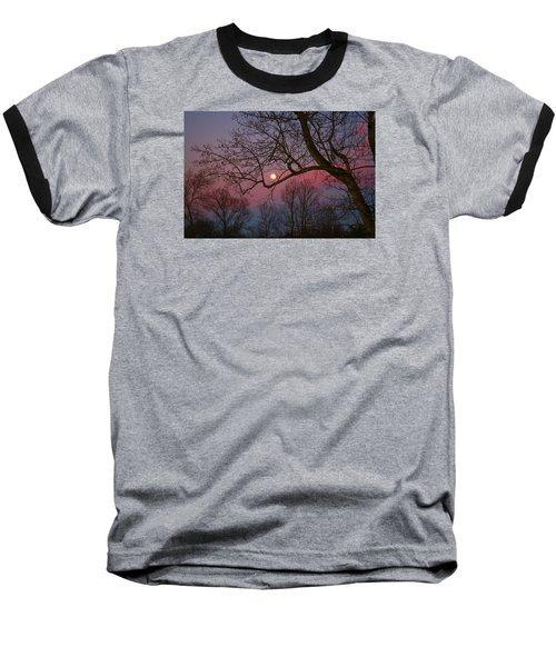 Moonrise Baseball T-Shirt by Kathryn Meyer