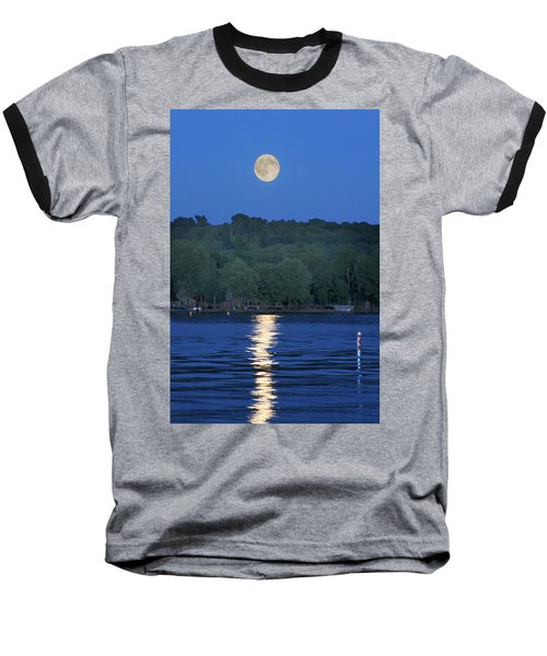 Reflections Of Luna Baseball T-Shirt by Richard Engelbrecht